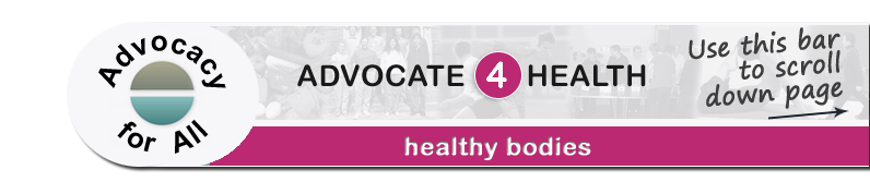 Advocate 4 Health - Healthy bodies page banner
