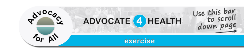 Advocate 4 Health - Exercise page banner