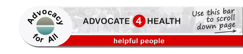 Advocate 4 Health - Helpful people page banner